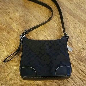 Coach crossbody handbag with Leather trim